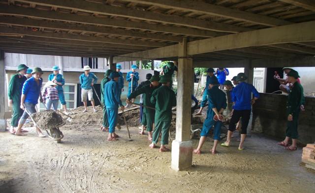Đoàn KT-QP 5 huy động hơn 200 ngày công giúp dân khắc phục hậu quả mưa lũ